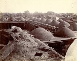 Panoramic view of the town from the top of the Jami Masjid, Khambhat (Cambay). Section 2, looking north-north-east